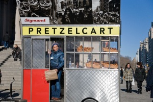 pretzel cart New York City