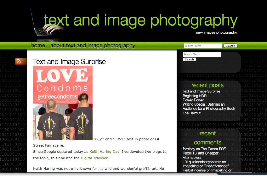 Text and Image Photography